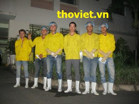 Đội ngũ thợ vệ sinh bể nước ngầm chuyên nghiệp