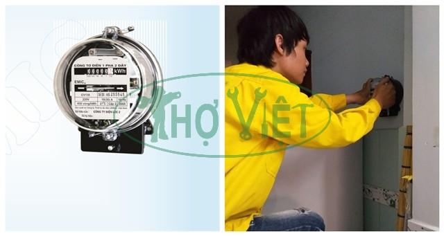 Lắp đồng hồ điện riêng 1 pha cho nhà trọ