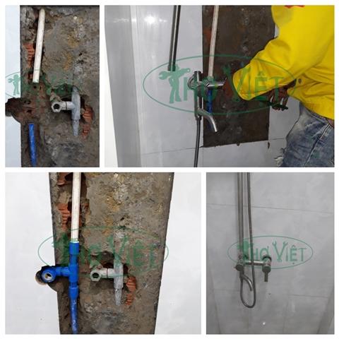 Thợ sửa vòi nước bị gãy, rò rỉ nước