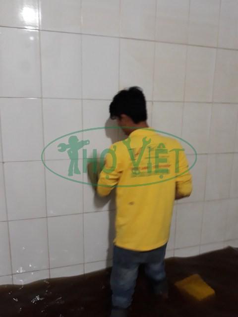 Hình Ảnh | vệ sinh bể nước ngầm tại KCN Long Thành
