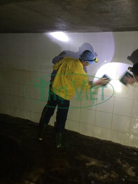 Vệ sinh bể nước ngầm KCN Vsip 1
