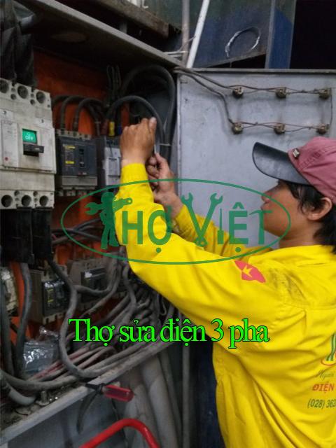 Thợ điện thợ sửa điện tại nhà chuyên sửa điện 1 pha điện 3 pha