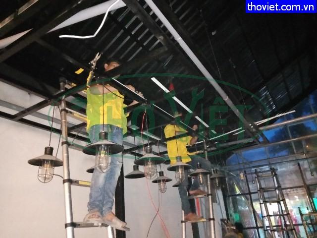 Lắp đặt đường dây điện cho quán cafe tại Tân Phú