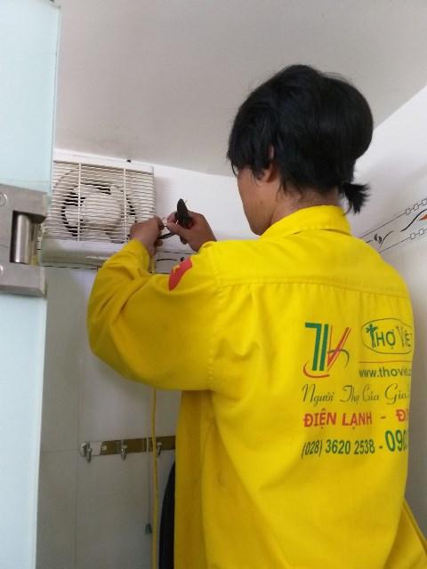 Sửa quạt thông gió kho hàng, lắp quạt thông gió cho nhà vệ sinh tại quận 2