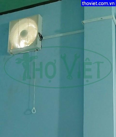 Lắp quạt thông gió Senko H250 cho phòng ngủ tại Thủ Đức