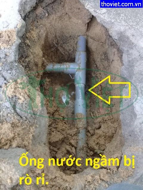 Sửa ống nước bị rò rỉ – ống nước ngầm bị bể