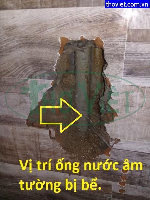 Sửa ống nước rò rỉ cho quán cà phê tại Tân Phú.