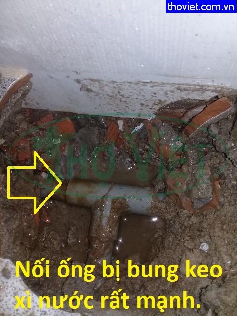 Đường ống nước bị bể gãy ngầm – sửa ống nước