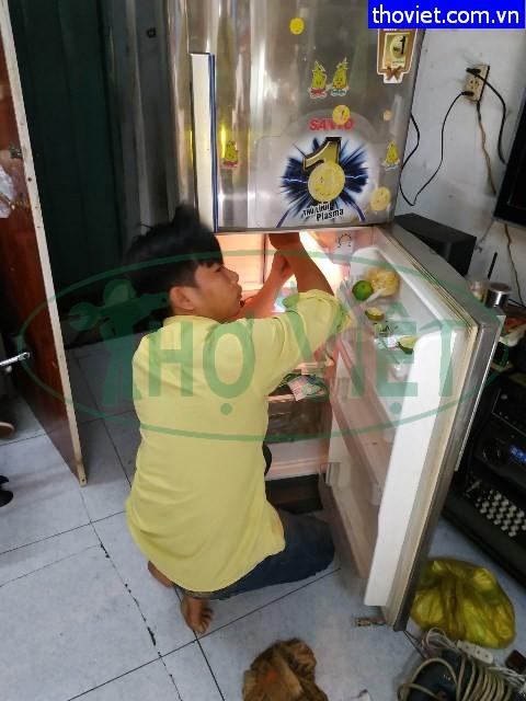 Sửa tủ lạnh Sanyo không lạnh tại quận Bình Thạnh