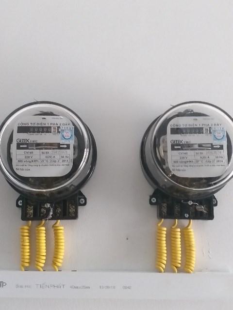 Lắp đồng hồ điện 1 pha cho nhà trọ Tân Phú