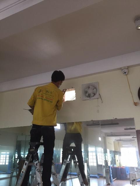 Lắp đặt quạt thông gió cho phòng GYM tại Phú Nhuận