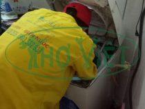 Vệ  sinh máy giặt Toshiba cửa trên tại quận Tân Phú