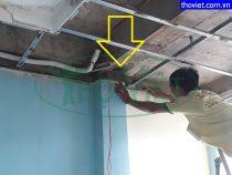 Chống thấm trần thạch cao tại quận 4 – Đường ống nước máy lạnh bị rò rỉ
