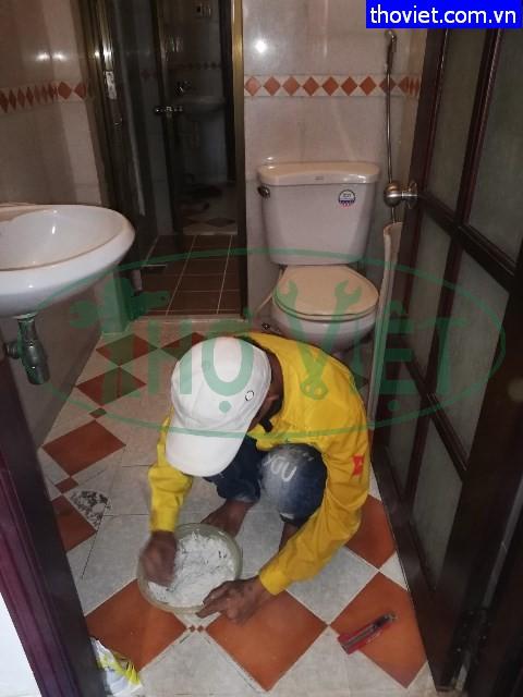 Chống thấm nhà vệ sinh tại quận 12 – Xử lý phễu thoát sàn