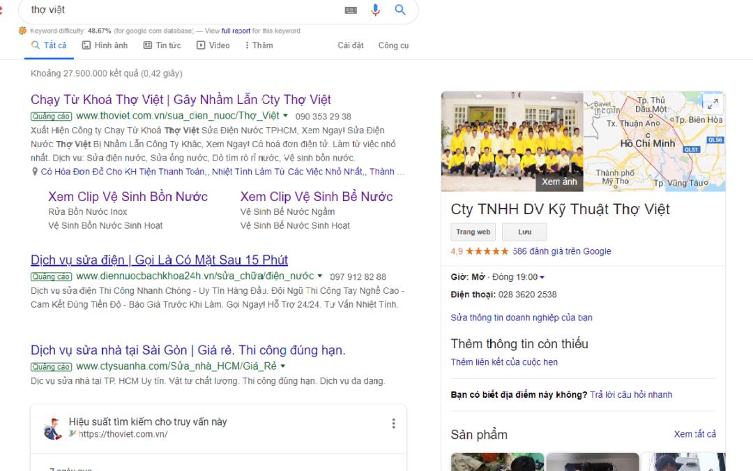 Cảnh báo mạo danh gây nhầm lẫn công ty Thợ Việt