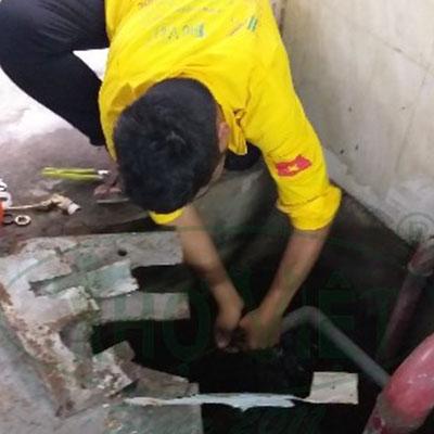 Lắp phao cơ cho bể chứa nước ngầm tại Tân Phú