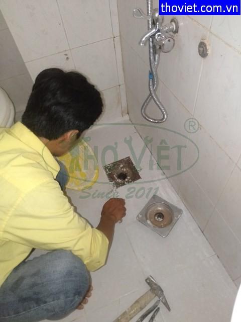Thợ chống thấm nhà vệ sinh tại Bình Tân – Phểu thoát sàn bị hỏng