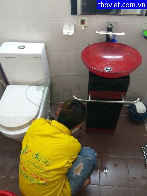 Thay bồn cầu và bồn rửa tay tại quận Tân Bình