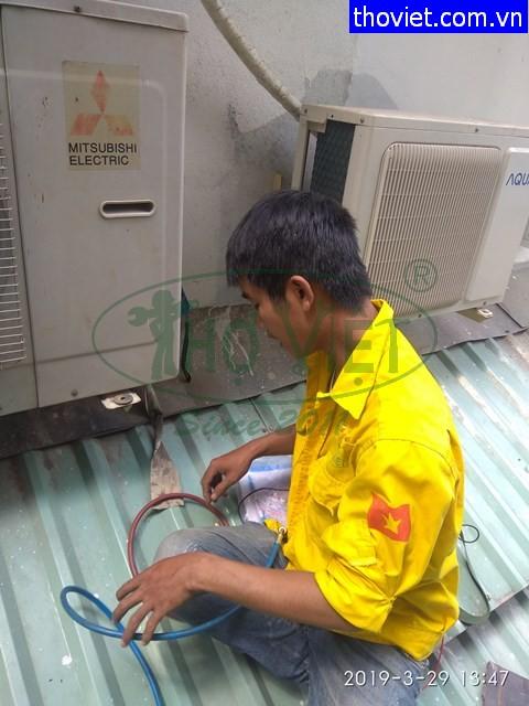 Sửa máy lạnh bị xì gas – ống đồng bị gãy tại quận 3
