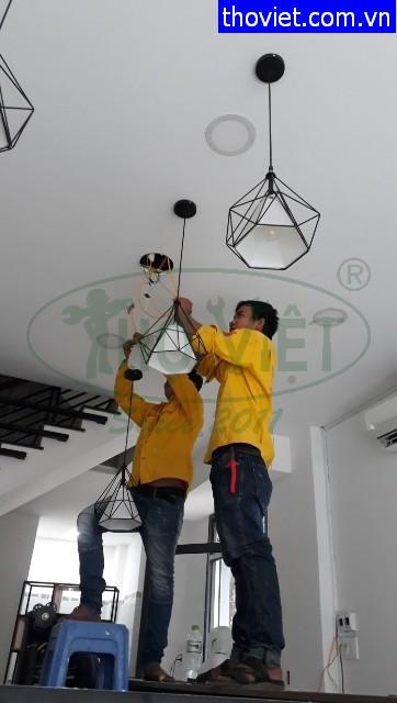 Thợ điện tại quận 7- Lắp đèn led thả trần