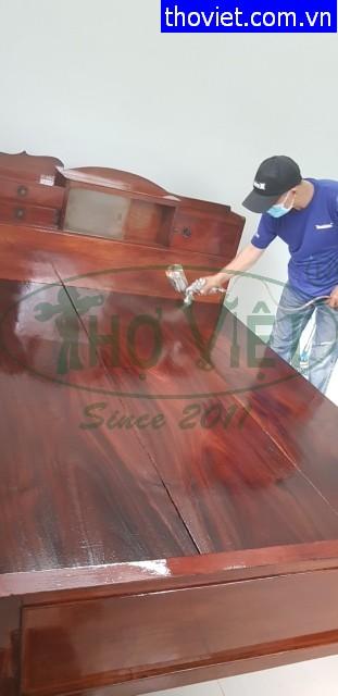 Thợ sơn PU giường gỗ tại Gò Vấp