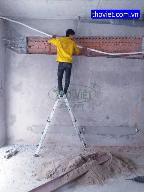 Lắp Hệ Thông Ống Đồng Máy Lạnh Âm Tường