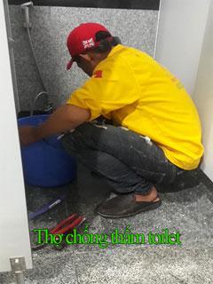 Thợ chống thấm toilet giá rẻ tại HCM